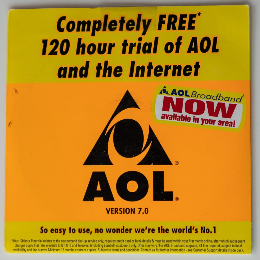 AOL CD-Rom with 120 hours free internet