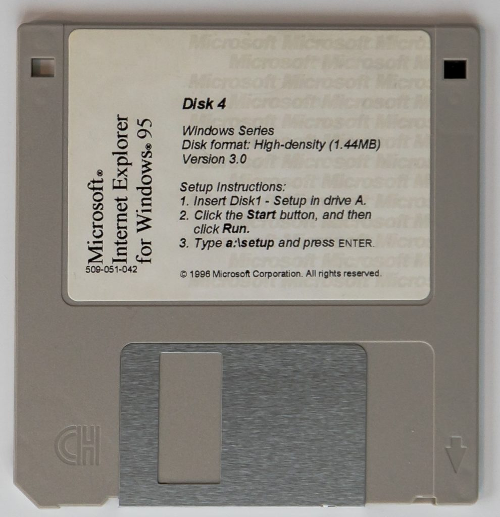 Internet Explorer Floppy Disk