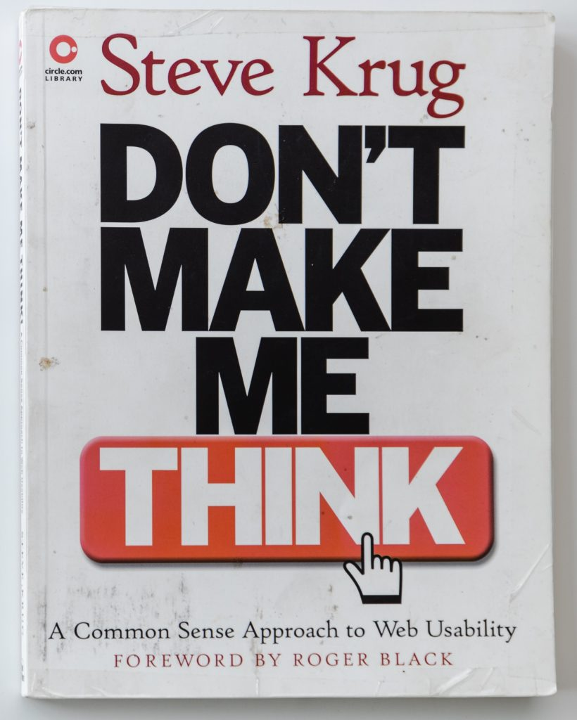 Steve Krug Don't Make me Think book cover